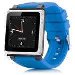 Браслет iWatchz Q Series для Apple iPod nano (6th gen) (голубой)